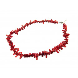 Намисто корал трубочки червоні