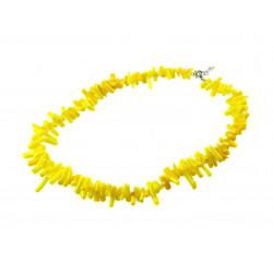 Намисто Корал трубочки жовті