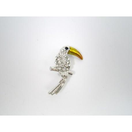 Брошка Попугай
